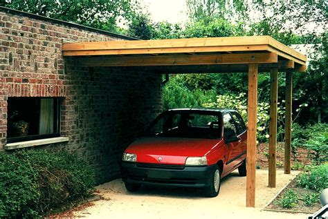 Cars Port by Carport Bois Brico Leclerc