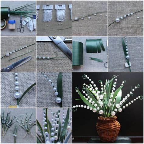 handmade decorations for home how to make lily of the valley step by step diy tutorial