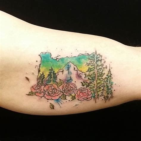 watercolor tattoos in portland 43 best landscape images on inspiration