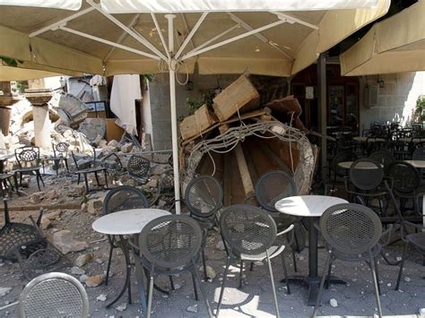 earthquake kos images show devastating aftermath of powerful earthquake