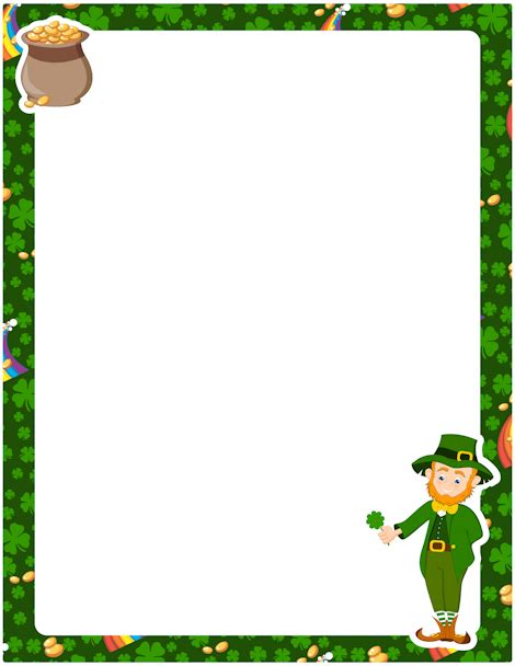 march printable stationary printable st patrick s day border free gif jpg pdf