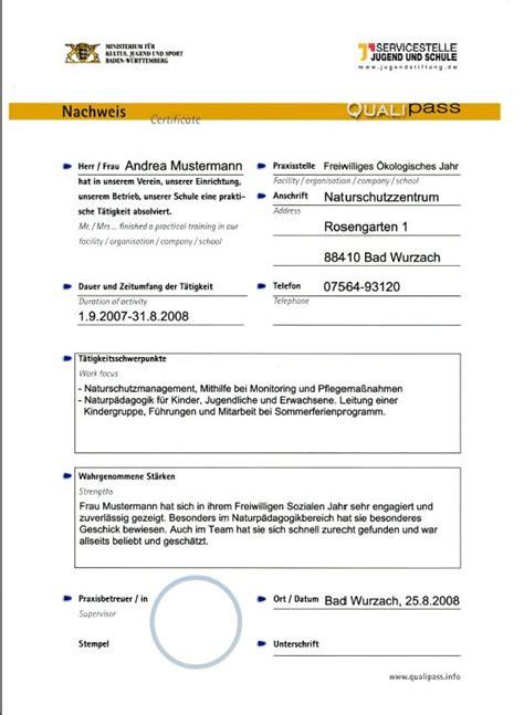 Bewerbung Freiwilliges Soziales Jahr Grundschule Zertifikate Ausstellen