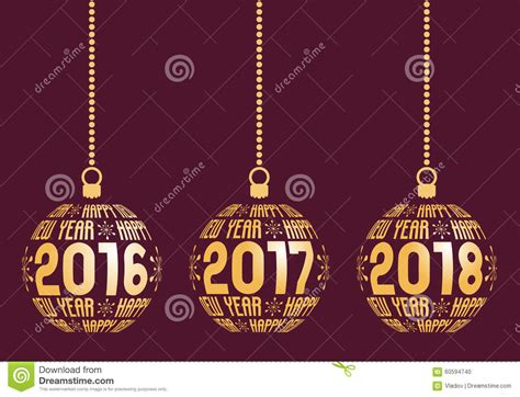 new year 2016 and 2017 happy new year 2016 2017 2018 elements stock vector