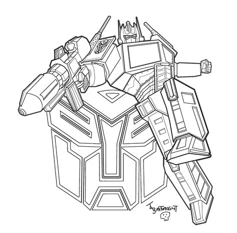 Coloriage Crosshairs Transformer Printable Coloring Pages