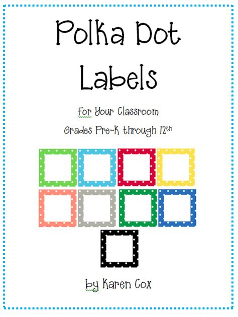 templates for making books in the classroom polka dot classroom labels prekinders