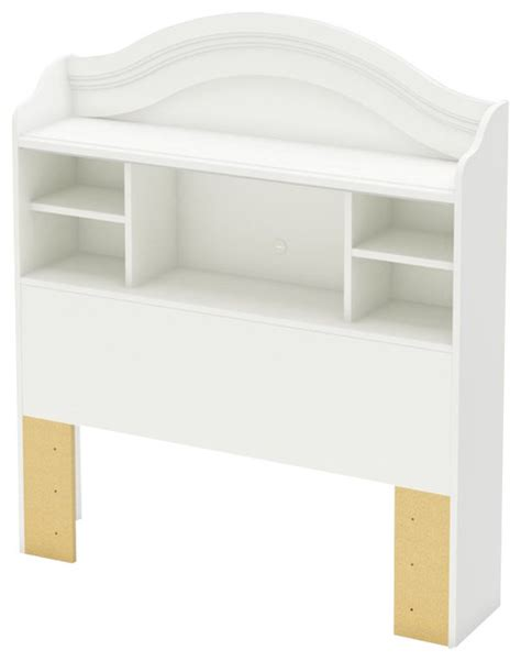 white bookcase headboard twin south shore handover twin bookcase headboard in pure white