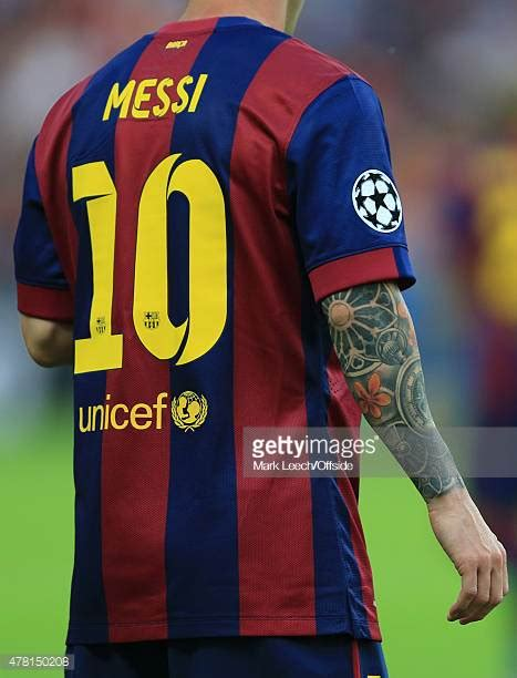 lionel messi sleeve tattoo messi stock photos and pictures getty images