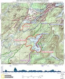 loop trail map nicks lake loop