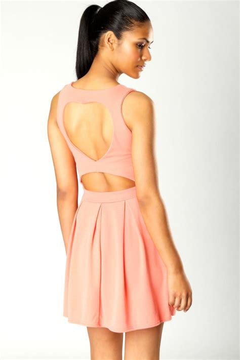 dress pattern heart back boohoo april heart back sleeveless skater dress bnwt ebay