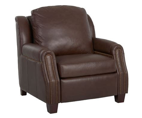 recliner with arm storage marcus power leather inclining chair with storage arms