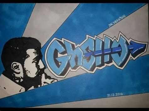bushido graffiti letters stencil drawing ghetto youtube