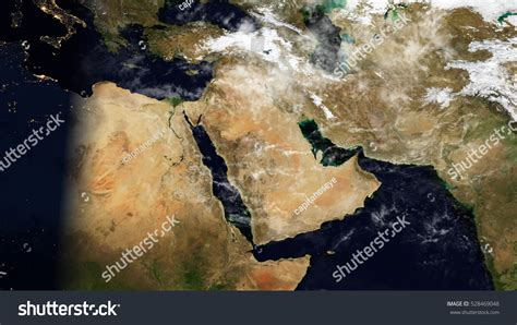 satellite map of middle east middle east satellite map composition elements stock