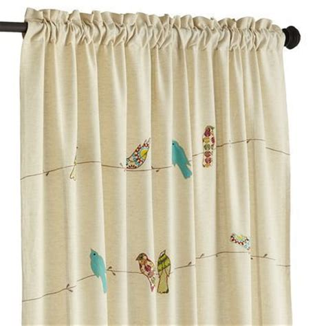 bird kitchen curtains applique birds on a wire 84 quot curtain so cute birds and