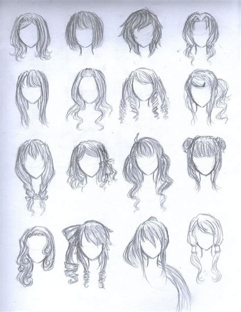 cute easy hairstyles to draw chibi girl hairstyles google search art pinterest