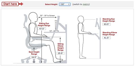 average desk chair height calculate ideal heights for your ergonomic office desk
