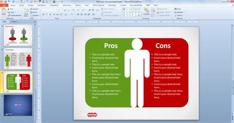 pros and cons list template free pros cons powerpoint template free powerpoint