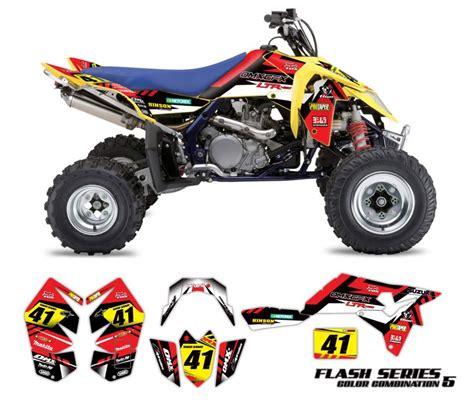 design your own quad graphics suzuki atv graphics kit flash omx graphics