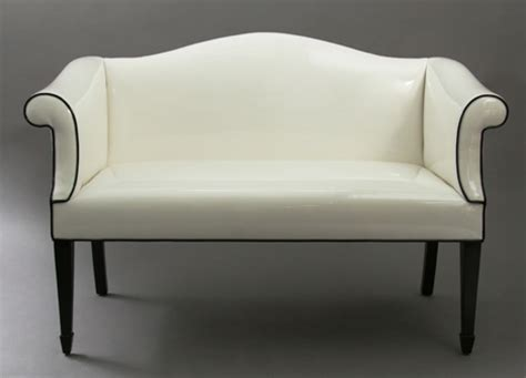 white settee white street settee from duane modern furniture