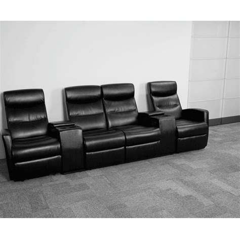 4 seat home theater recliner 4 seat home theater recliner in black bt 70273 4 bk gg