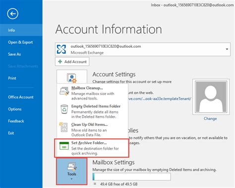 Outlook 2016 S New Archive Button Outlook Tips
