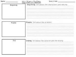 writing a story template writing outline grade and writing on