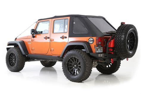 Soft Top Jeep Wrangler Unlimited Smittybilt 9083235 Bowless Combo Soft Top For 07 17 Jeep