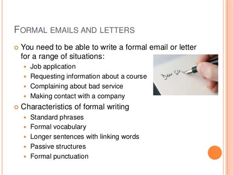 Formal Letter In Useful Phrases Formal Emails And Letters