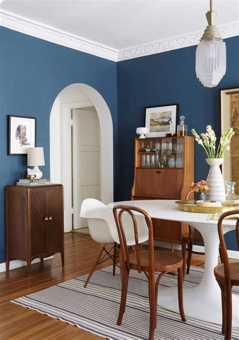 best dark blue paint for dining room a traditional english inspired dining room makeover my