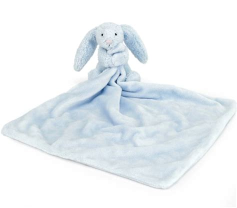Comfort Blanket For Baby by Jellycat Bashful Blue Bunny Comfort Blanket