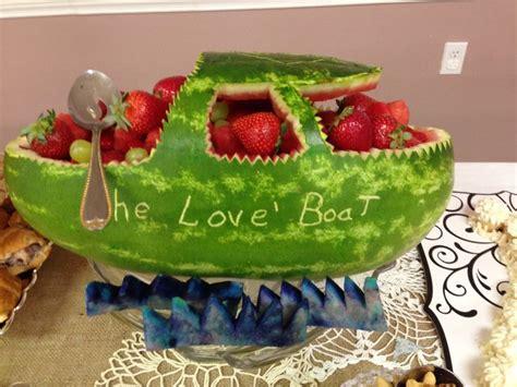 pontoon boat shower watermelon boat bridal shower bridal shower pinterest