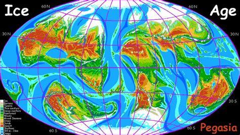 ice age coastal maps images  pinterest ice age