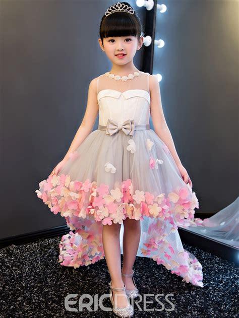 Flower Dresses by Ericdress Hi Lo 3d Floral Flowers Bowknt Flower Dress