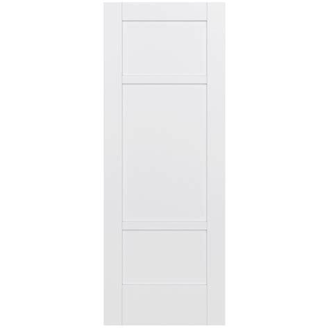 3 Panel Solid Wood Interior Doors Jeld Wen 32 In X 80 In Moda Primed White 3 Panel Solid Wood Interior Door Slab