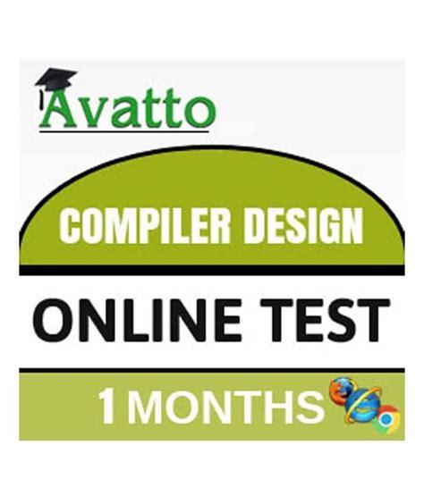 Compiler Design Online Quiz | compiler design online test by avatto buy compiler design