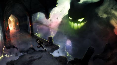 wallpaper abyss video game epic mickey full hd wallpaper and background image