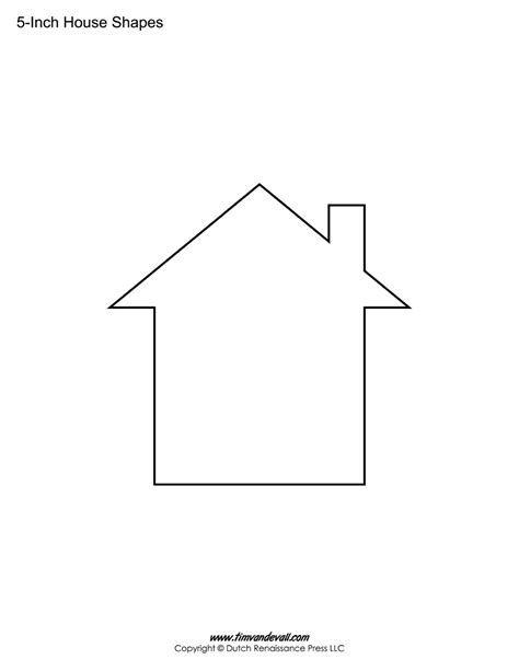 house template house templates free blank house shape pdfs