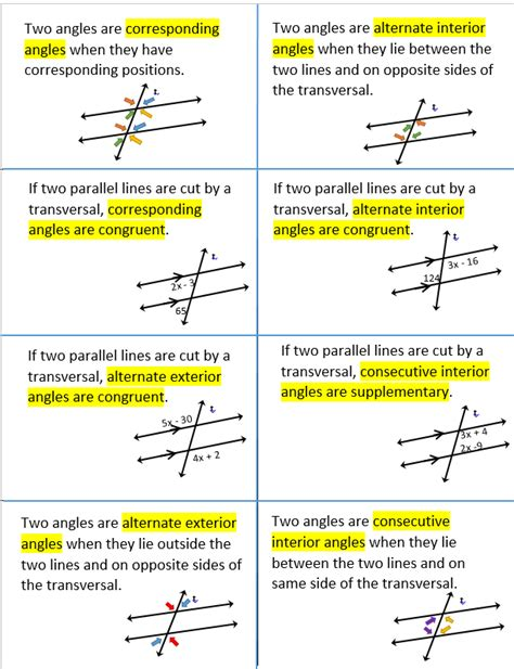 Worksheet 3 Parallel Lines Cut By A Transversal Answers by Parallel And Perpendicular Lines Systry
