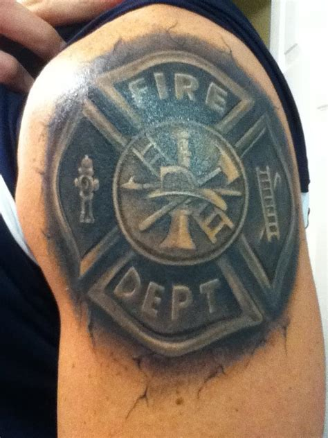 firefighting tattoos maltese cross strike the box firefighter tattoos