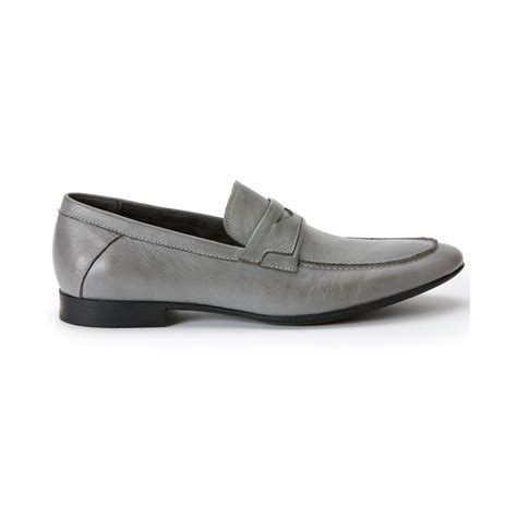 grey loafers for calvin klein olin loafers in gray for grey lyst