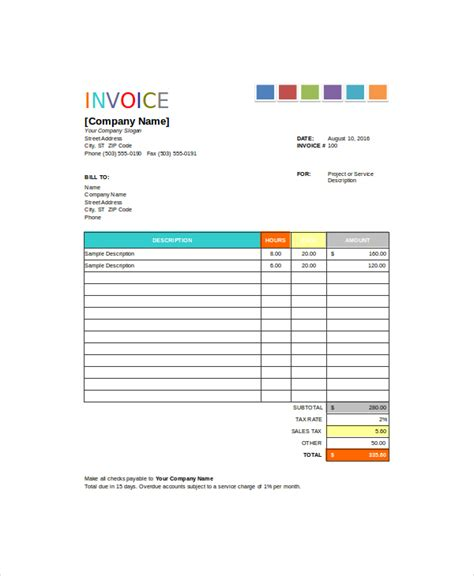 House Painting Invoice Template Elegant Painting Invoice Template 10 Free Excel Pdf Documents Download Free Premium