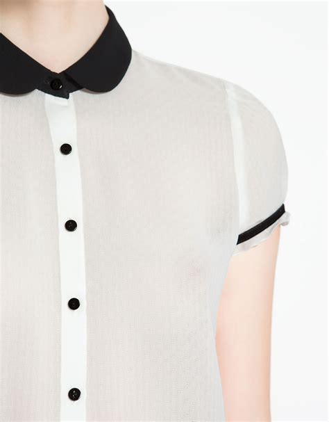 White Blouse Pan Collar by S White Blouse With Pan Collar Collar Blouses