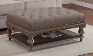 Round tufted leather ottoman coffee table ottoman ideas large cocktail