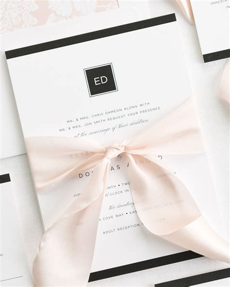 wedding ribbon modern ribbon wedding invitations ribbon wedding