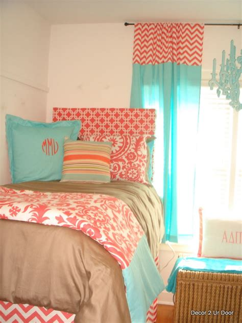 teal and coral bedroom dsc01659 decor 2 ur door
