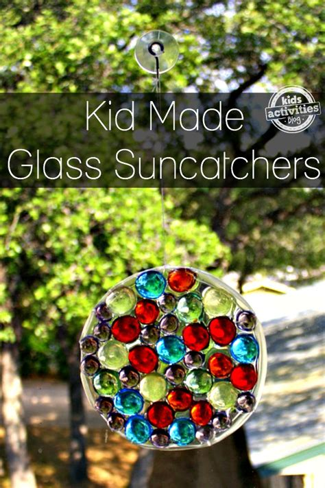 What To Put In A Clear Glass Vase Glass Gem Sun Catchers Kids Can Make
