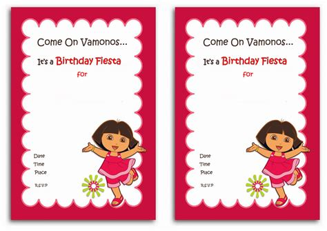 dora the explorer templates for invitations dora birthday invitations birthday printable