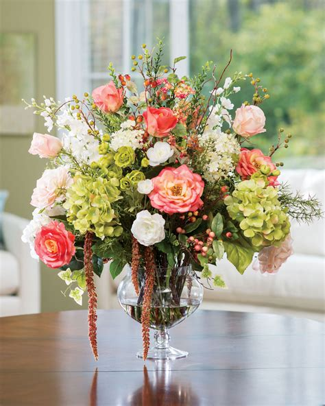 english garden silk flower centerpiece at petals