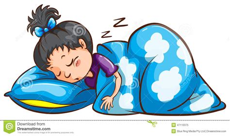 bilder schlafen ein schlafen des jungen m 228 dchens vektor abbildung