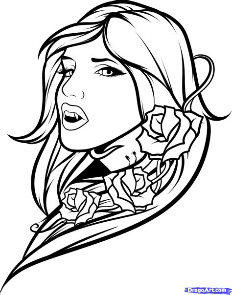 tattoo girl coloring page vire girl vm colouring pages vires bats