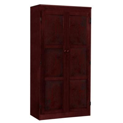 concepts in wood multi use storage pantry in cherry kt613a